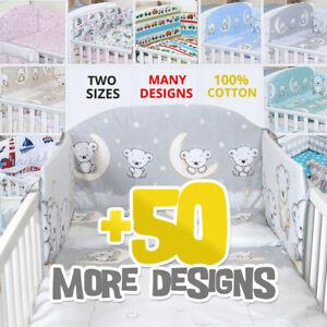 50+ DESIGNS BABY BEDDING SET COT OR COT BED inc BUMPER+COVERS+DUVET+ FLAT PILLOW