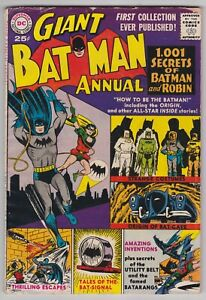 Batman Giant Annual #1 G-VG 3.0 1,001 Secrets Of Batman And Robin 1961!
