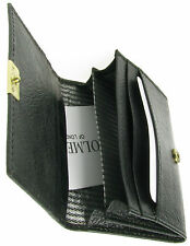 MENS BLACK REAL LEATHER BIFOLD WALLET CREDIT CARD HOLDER GIFT BOX UK NEW BL2