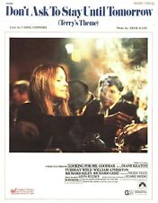 DON'T ASK TO STAY UNTIL TOMORROW SHEET MUSIC LOOKING FOR MR. GOODBAR KEATON 1977