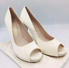 Harriet Wilde Swarovski Satin Bridal Shoes Size 5