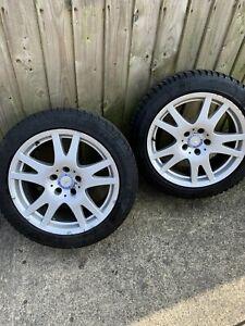 "Mercedes CLS W219 Set Of 17"" Alloy Wheels / Tyres C E S Class CLK SLK"