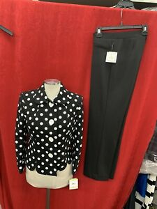 """KASPER  PANT SUIT  /NEW WITH TAG/SIZE 14/RETAIL$280/INSEAM 32""""/BLAZER LINED"""