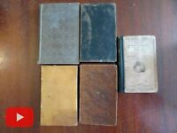 American Education 19th century lot 5 old books sciences geography botany