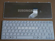 NEW for SONY VAIO E11 SVE11 SVE 11 Keyboard White With Frame UK