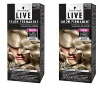 2 x Schwarzkopf Live Salon Permanent 10.2 Extra Light Pearl Blonde Brand New