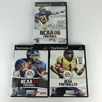 NCAA Football 06,08,09 (Sony PlayStation 2) PS2 EA Sports Complete Manuals HG52