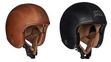 Original Royal Enfield Open Face Granado Helmet Vintage Brown/Black Leather