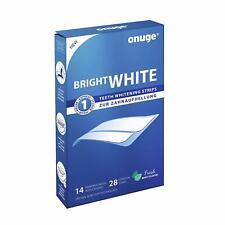 onuge Bright White-Strips 28 Bleaching-Stripes zur Zahnaufhellung in 14 Tagen