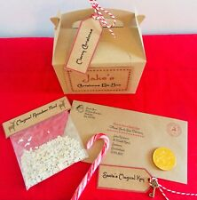 Christmas Eve Box Personalised Santa Letter Magic Key & Reindeer Food