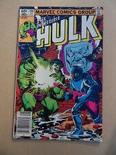 Incredible Hulk 286 . Marvel 1983 . VF - minus