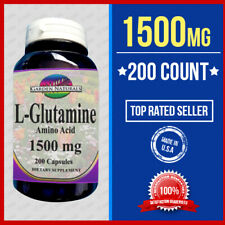 L Glutamine Amino Acid 1500mg 200Caps Endurance, Strength, Recovery USA
