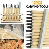 12pcs Holzschnitzerei Hand Meißel Tool Kit Holzbearbeitung Professional Gouges