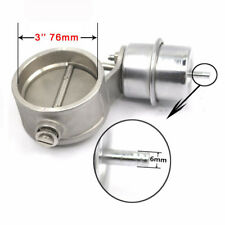 3'' 76mm Exhaust Control Valve With Vacuum Actuator Cutout Pipe Closed With ROD