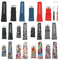 Silicone Watch Band Wrist Strap Wristband w/Buckle Kit For Fitbit Surge Tracker