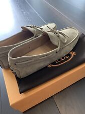 Tod's Brown Gommino Suede Driving Shoes UK8 Brand New With Box 100%auth