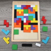 Wooden Toy Building Block Puzzle Montessori Preschool Educational Baby Toys