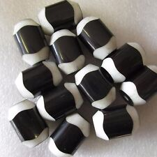 20 Beautiful Black & White Cylinder Beads 24mm x 16mm Craft Jewellery Making