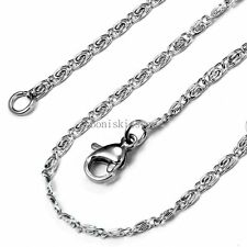 Men's Silver Stainless Steel Clip Link Chain Necklace 22 Inch Long