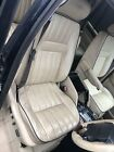 Lot51  RANGE ROVER P38 Electric Leather Seats Cream With Blue Piping Foot Cards.