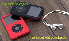 Silicone Skin Cover Case for iPod Classic 6th Gen 160GB Video 60GB 80GB Thick X2