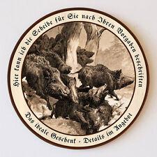 Flucht der Wildschweine von Deiker Angriff  Schützenscheibe 41cm Wunschtext 151