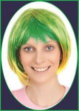 AUSSIE Green Yellow BOB WIG Australia Brazil Commonwealth Olympic Carnival Party