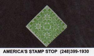 1851 Nova Scotia SC 4, 6p Yellow Green Paper, MNG - Scarce Offering
