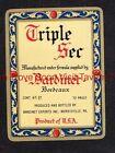 1940s PENNSYLVANIA Morrisville BARDINET TRIPLE SEC Label Set
