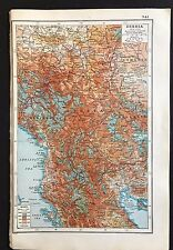 Vintage Map, WW1 Serbia 1914-1915 - Harmsworth's Atlas