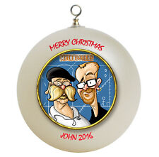 Personalized Myth Busters Christmas Ornament Add Name