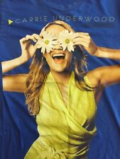 Carrie Underwood T Shirt Adult Small Play On Tour Daisy Eyes Royal Blue