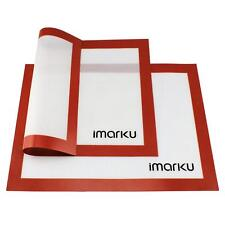 Imarku Durable Silicon Liner Baking Mat  Heat Resistant  Non-Stick Set of 2