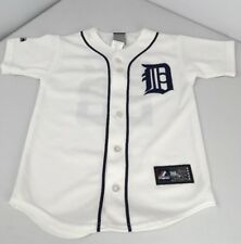 Prince Fielder Detroit Tigers MLB Majestic Button Stitch Jersey Size Youth Small