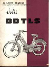 Notice d'entretien & utilisation PEUGEOT cyclomoteur BB TLS mobylette 1965