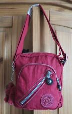KIPLING WELL BAG RARE Russet Red
