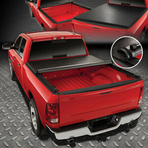 FOR 2016-2021 TOYOTA TACOMA FLEETSIDE 5FT BED SOFT VINYL ROLL-UP TONNEAU COVER