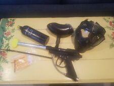 Brass Eagle Marauder Paintball Marker Gun With Hopper,Tank,& Face Mask + Extras