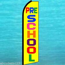 Pre School Flutter Feather Flag Swooper Tall Vertical Advertising Sign Banner