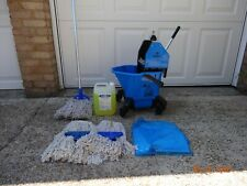 More details for unused - jangro proffesional mop bucket & ringer + mop + spare mop heads