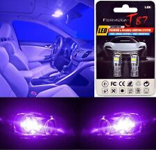 LED 3030 Light Purple 12000K 168 Two Bulbs Rear Side Marker Parking Replacement