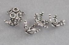 925 Silber Zwischenteile, Spacer Perlen, Altsilber, DIY Vintage Schmuck, Blume