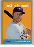 Justin Smoak 2019 Topps Archives 5x7 Gold #36 /10 Blue Jays