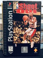 NBA Shootout Sony PlayStation 1 CIB Long Box AUTHENTIC PS1 Basketball Vtg Game