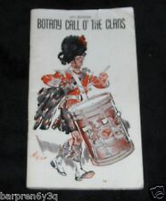 Vtg Scottish Booklet Botany Call O The Clans 6th Edition 1946 Wrinkle Proof Ties