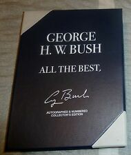 President GEORGE HW BUSH autographed signed All The Best Book Boxed Numbered COA