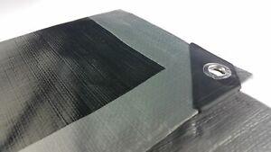 350GSM Tarpaulin Extra Heavy Duty Builders Waterproof Ground Sheet Cover Silver