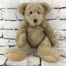 First And Main Minky Teddy Bear Plush Brown Sitting Beanbag Stuffed Animal Soft