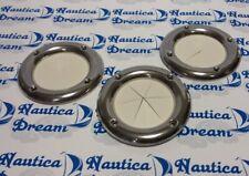CUFFIA GHIERA PASSACAVO INOX GUARNIZIONE PVC COLORE BIANCO - 90 MM