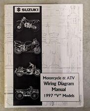 "1997 Suzuki Motorcycle & Atv Wiring Diagram Manual ""V"" Models 99923-13971"